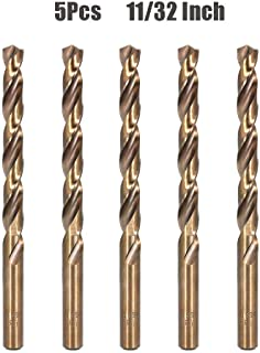 Hymnorq M35 Cobalt Steel 11/32 Inch Twist Drill Bit Set of 5pcs, Fractional Inch Size,..