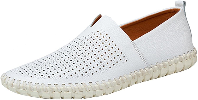 Men's Casual Comfortable Breathable Lazy shoes Sailing shoes Sandals Driving shoes Four Seasons Lofo shoes Leisure (color   White1, Size   41EU)