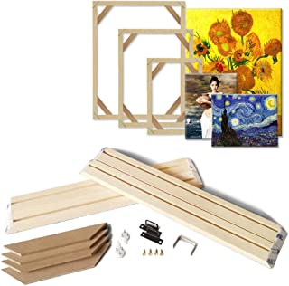ASENART DIY Wooden Frame Kit for Canvas Stretching Nature Wood Stretcher Bars Oil Painting Wall Art Picture Frames 23.6x35.4