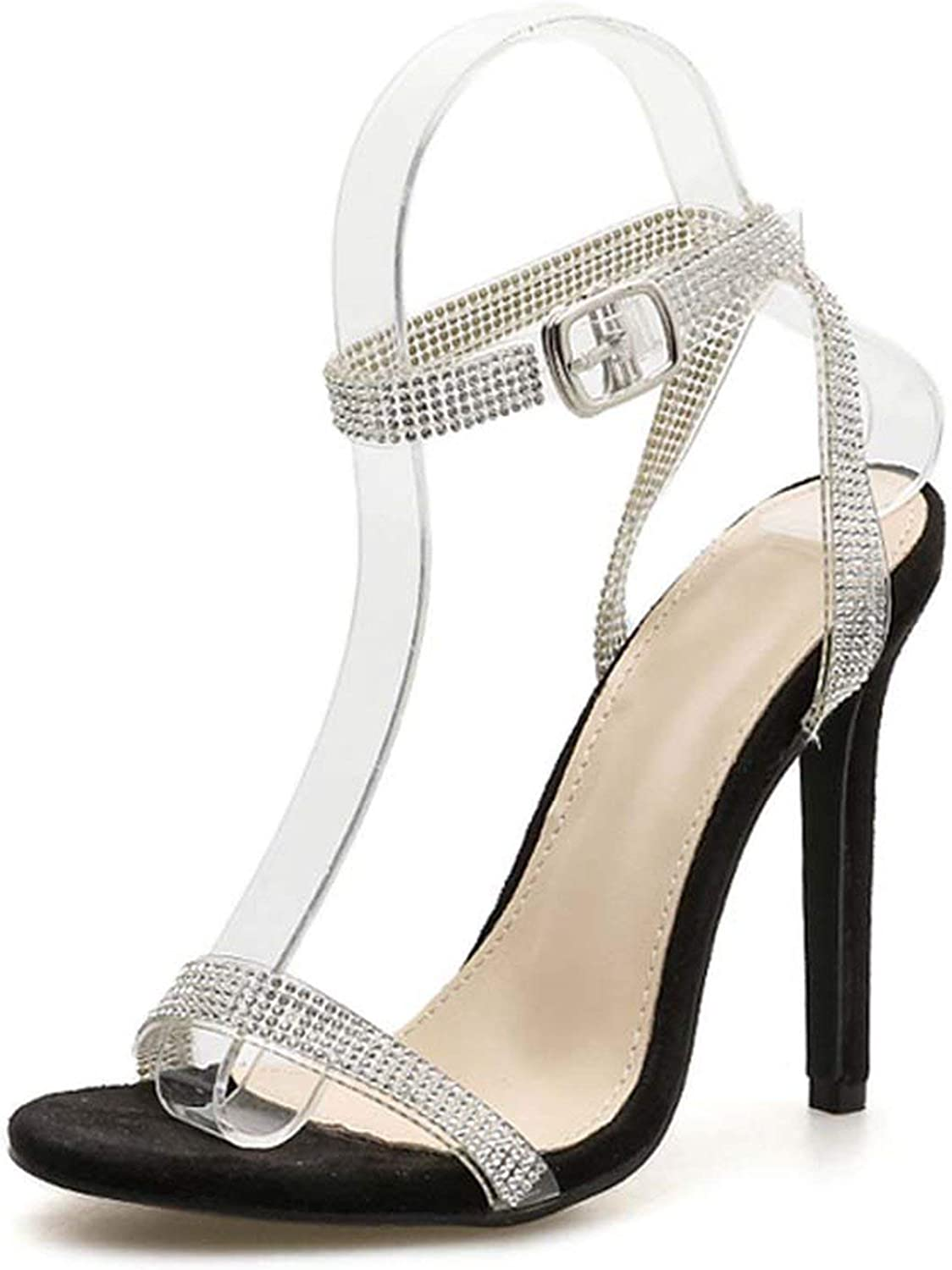 Hi Monkeys-Ssandals Silver Bling Crystal Sexy Women Sandals Buckle Strap Women Sandals Women shoes