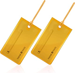 BAGAIL Luggage Tag For Suitcases, Flexible Silicone Tags Travel ID Identification Labels Set For Bags & Baggage Gold
