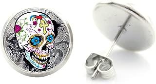 Drapeau du Mexique Boucle d/'oreille-MEXIQUE drapeau Boucles d/'oreilles Plaqué Argent Clous D/'Oreilles 12 mm