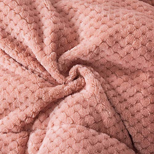 KASENTEX Luxury Plush Sherpa Comforter, Cozy Reversible - Goose Down Alternative Fill, Machine Washable Bedding, Sunset Rose, Twin/Twin XL Size