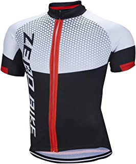 Men's Short Sleeve Breathable Cycling Jersey Bike Clothes Sportswear Polyester Fabric