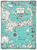 Historic Pictoric Vintage Map - Map of Cape Cod (with Kennedy Compound) 1960 Ernest Dudley Chase - 18 x 24 Fine Art Print