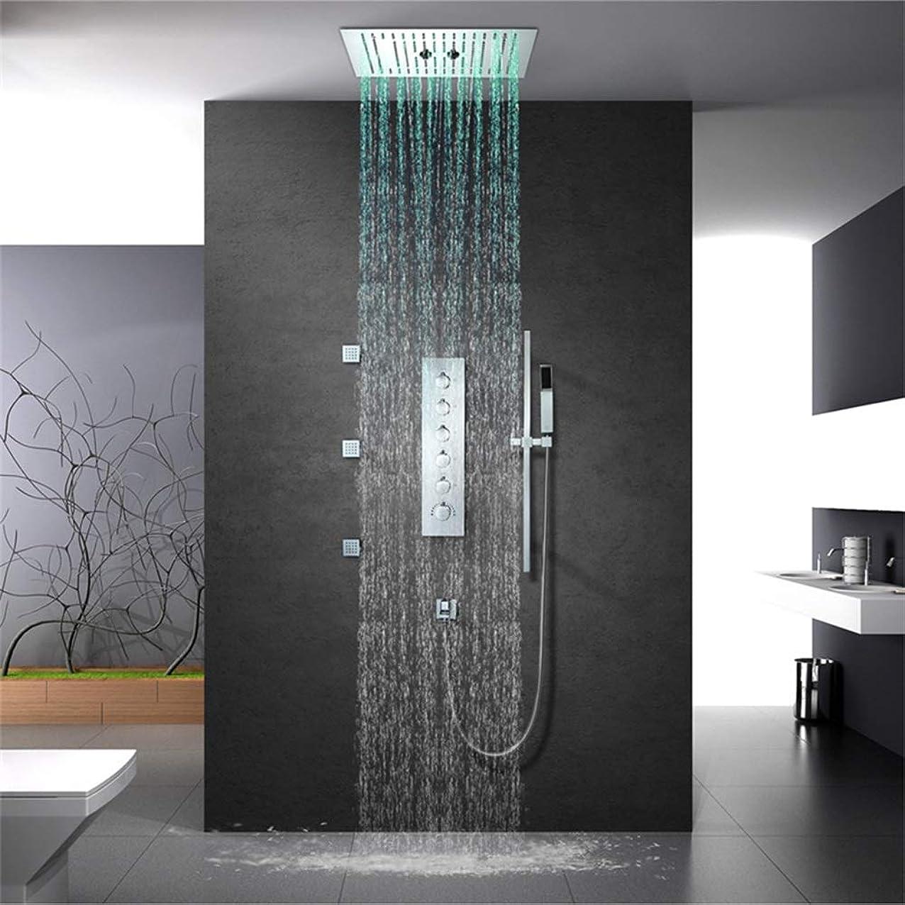 微視的課税光電HYBJP リシャワーヘッド レインシャワー シャワー水栓 浴室用 取付簡単 高水圧 節水 蛇口 セット
