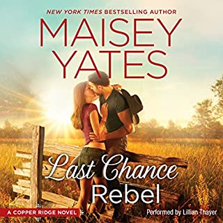 Last Chance Rebel     Copper Ridge, Book 6              Written by:                                                                                                                                 Maisey Yates                               Narrated by:                                                                                                                                 Lillian Thayer                      Length: 9 hrs and 24 mins     1 rating     Overall 5.0