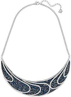 Swarovski Women's Palladium Plated Metal Crystal Statement Necklace, 38 cm - 5190040