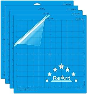 reart strong grip cutting mat for cricut 12x12 – 4 pack adhesive cut mat replacement work with cricut explore one/air/air 2/maker