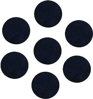 Black Adhesive Felt Circles; Adhesive Black Felt Circles for DIY and Sewing Handcraft, 1 Inch, Pack of 100