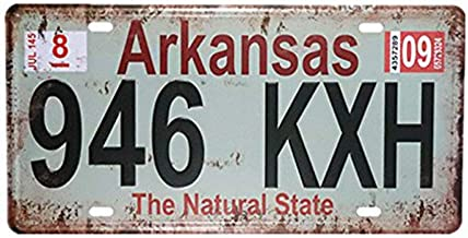 "RUU Arkansas 946 KXH Auto License Plate Car Tag Home/Cafe Bar/Pub/Restaurant/Exhibition Wall Decor Poster Vintage Tin Sign Plaque 6""x12"""