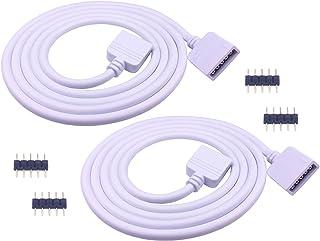 LitaElek 2X 1m RGBW 5050 Tira LED Cable de extensión 5 Pines LED Conector de la luz de la Cinta Luz de la Cuerda del LED Cable de extensión para los 10mm Anchos y 12mm Anchos SMD 5050 RGBW LED Strip