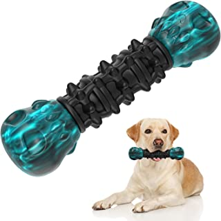 Vilike Dog Chew Toys for Dogs Aggressive Chewers Large Medium Breed, [Upgraded Durable] Dog Toys with 100% Rubber & Nylon,Interactive Dog Birthday Teething Cleaning Toy Bone Treats for Big Dog Puppies