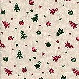 Baumwollstoff | O Tannenbaum - Weihnachtsrot und