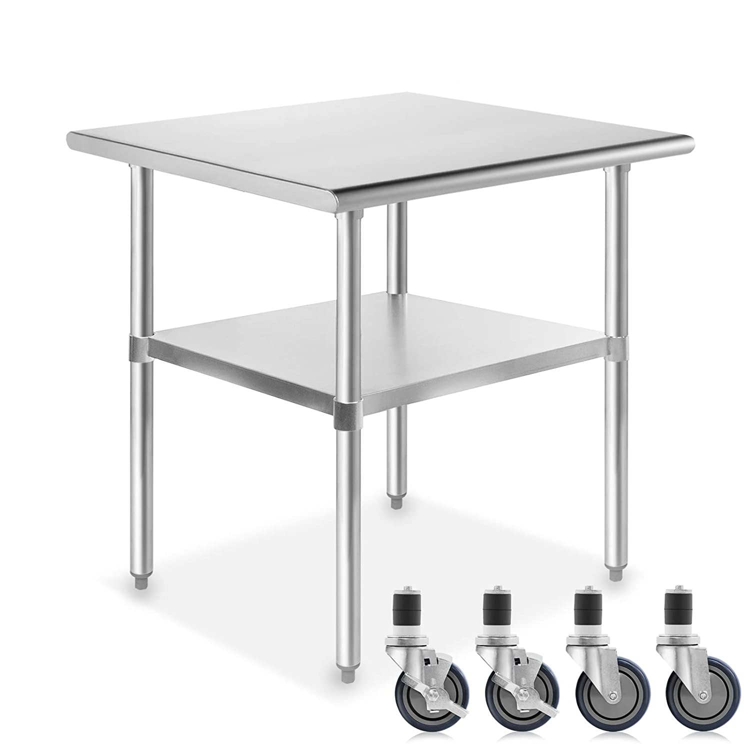 Indefinitely GRIDMANN NSF Stainless Steel Translated Commercial Prep Tabl Work Kitchen
