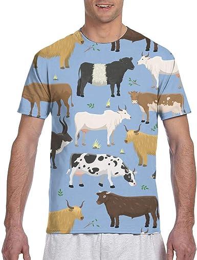 Playeras para Hombres Toros y Vacas Ganado de Animales de ...