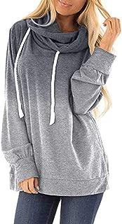 Womens Tie Dye Hoodie Gradient Color Print Sweatshirt Casual Loose Drawstring Pullover Hoodies