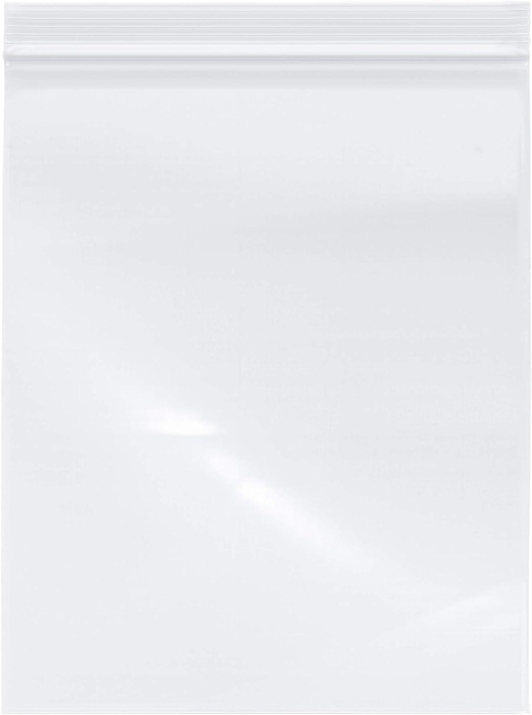 Plymor Industrial Duty Plastic Reclosable Zipper Bags, 6 Mil, 8