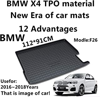 Car Mat Car Trunk Mat Use for BMW X4 F26 2016-2018 Years TPO Material Rubber Rear Trunk Cargo Liner Trunk Tray Floor Mat Cover 1 PCS Antibacterial, Waterproof, Odorless
