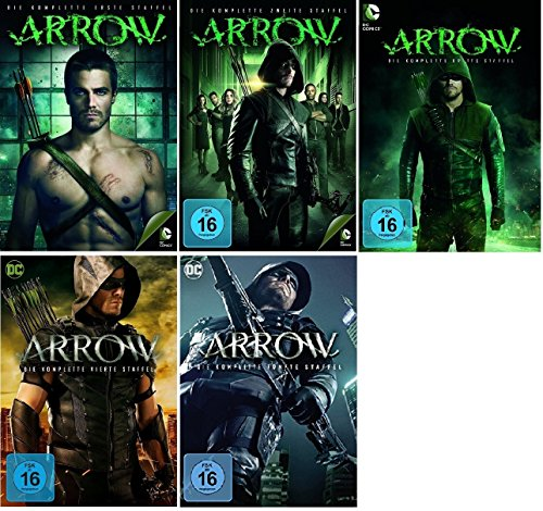 Arrow Staffel 1-5 (1+2+3+4+5) [DVD Set] DC-Comics Serie