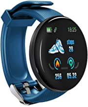 UIEMMY slim horloge Smart Watch Bloeddruk Hartslagmeter Waterdichte Bluetooth Ronde Fitness Tracker Smart Band Armband