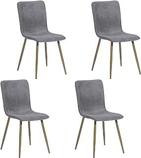 FurnitureR Set de 4 sillas de Comedor de Cocina, ensamble