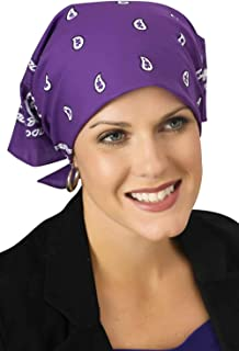Classic Paisley Bandannas for Women with Cancer, Chemo, and Hair Loss