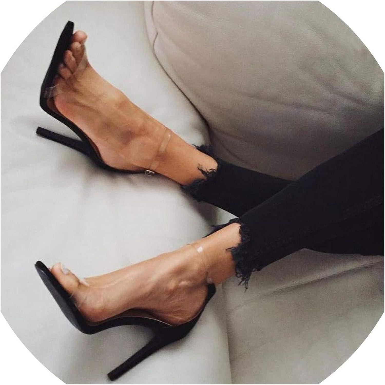 2019 PVC Women Platform Sandals Super High Heels Waterproof Female Transparent Crystal Wedding shoes Sandalia Feminina