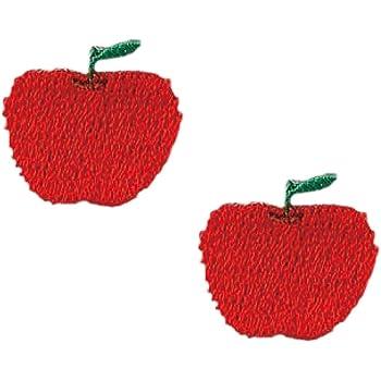KIYOHARA お気に入り ミニワッペン リンゴ 約幅1.9cm×縦1.8cm 2枚入り MOW584