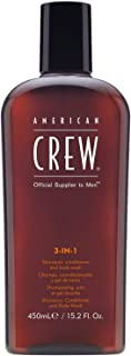 American Crew 3 In 1 Shampoo, Conditioner and Body Wash, 450 ml