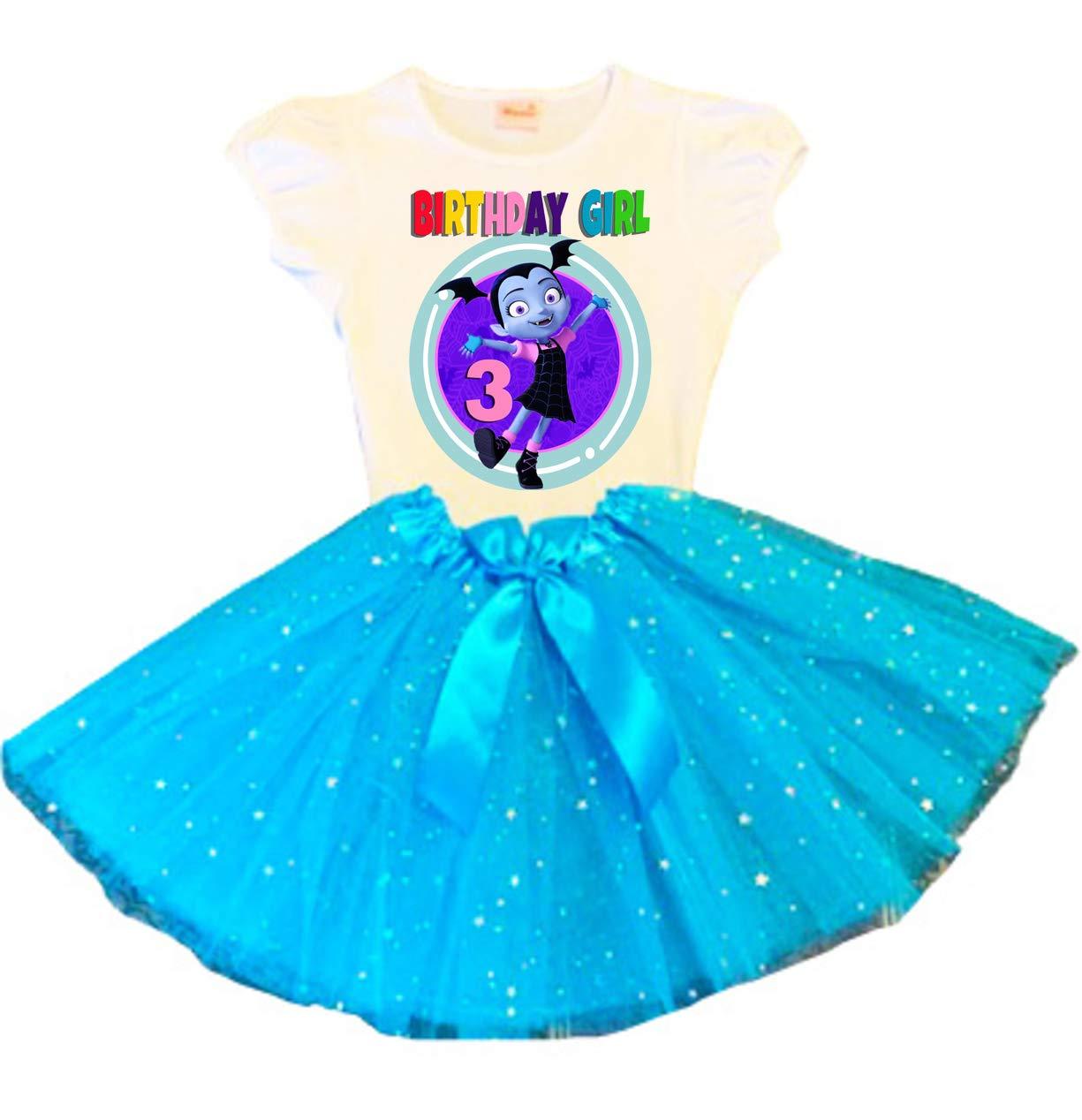 VAMPIRINA Birthday Tutu online shop 3rd Turquoise Party Dress Nippon regular agency