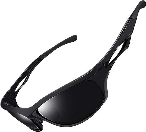 Joopin Gafas de Sol Deportivas Polarizadas con Protección UV 400 Gafas de Ciclismo, Bicicleta Montaña Moto, Golf y De...