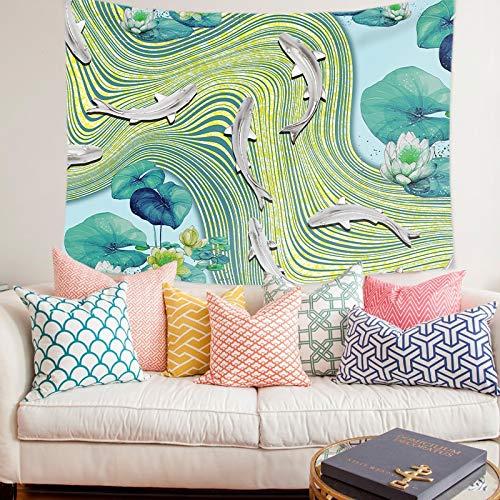 WERT Paisaje Natural Tapiz Colgante de Pared Impresión Exquisito Arte Manta Pintura de Fondo para Sala de Estar Dormitorio Decoración para el hogar A9 95x73cm