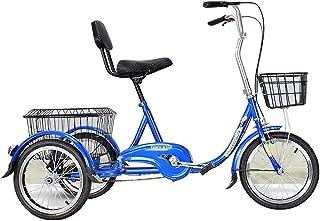 Jlxl Vuxen Tricycle Tre Hjul Trike Cykel Singel Hastighet Kryssare Trike Cykel Med Lastkork Höjdjusterbar Cykelstol För Se...