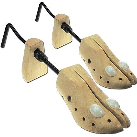 unisex f/ür Damen und Herren Schuhdehner mit Tragetasche L/änge und Breite verstellbar ein Paar hochwertige Zweiwege-Schuhspanner aus robustem Kunststoff