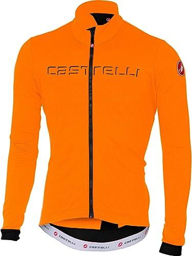 Castelli Fondo Full-Zip Long-Sleeve Jersey - Hommes's Orange lumière noir, L