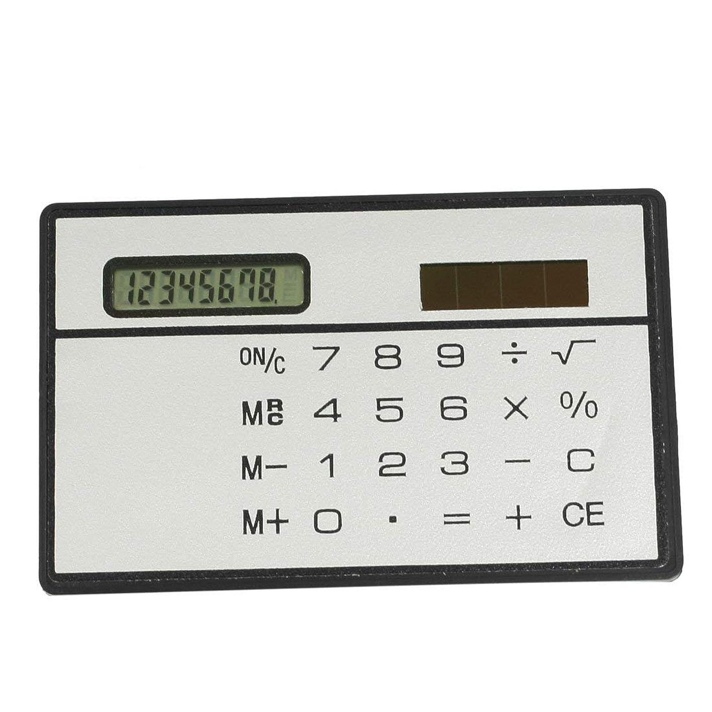 ピボットビジュアル場合Tyou Tyou 太陽エネルギー コンピューター カード 個性的な デザイン 電卓 時間 税計算 電卓 学校用品 文房具 超軽量 超薄型 電卓 1個