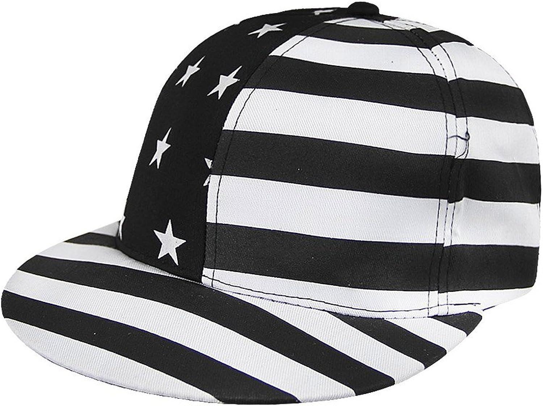 CHUANGLI Unisex Adult Star HipHop Hats Snapbacks Baseball Caps Classic American Flag Style
