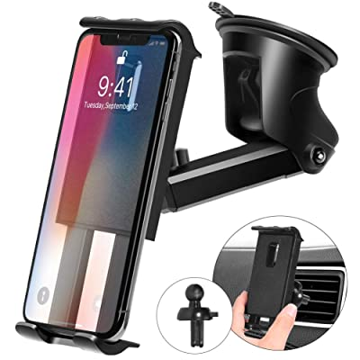 Kaome 3 in 1 Phone Holder for Car Phone Mount S...