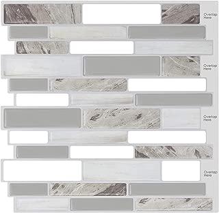 HUE DECORATION Modern Grey Peel and Stick Tile Backsplash for Kitchen, Decorative Vinyl Backsplash Tile Peel and Stick Subway Tiles,Smart Sticker Tile for RV Kitchen 10