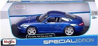 Maisto Porsche 911 Carrera S, modelauto met vering, schaal 1:18, deuren en motorkap beweegbaar, klaar model, bestuurbaar, ...