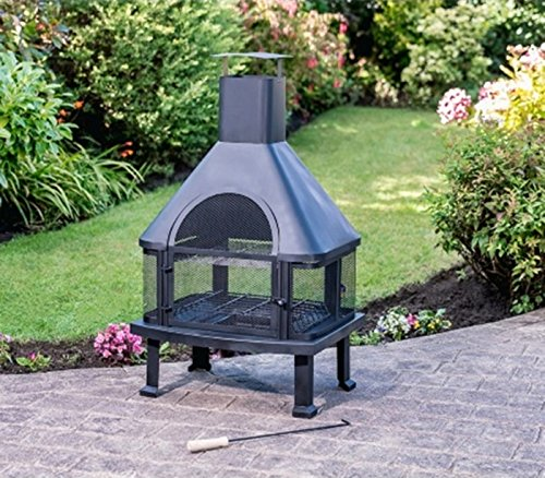 Scotrade New Toronto Garden Chiminea ideal for adding warmth and atmosphere in the garden.
