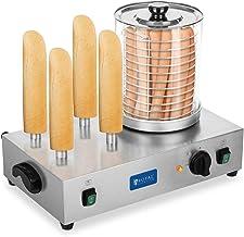 Royal Catering Machine à Hot Dog Professionnelle Appareil Hot Dog RCHW 2300 (Puissance 2 x 300 Watts, Température 0-95°C, ...