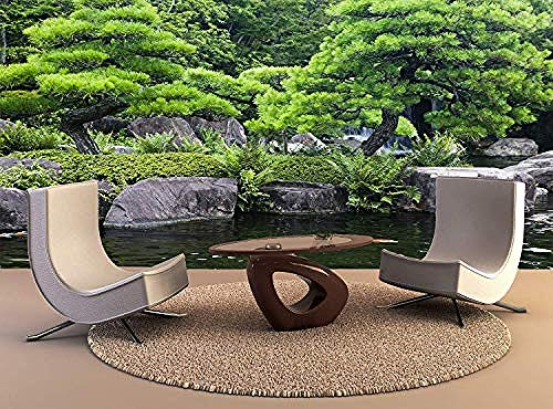 XHXI Póster de impresión de pared Japón Himeji Himeji Koko En jardines estanque carpas Koi decoració Pared Pintado Papel tapiz 3D Decoración dormitorio Fotomural sala sofá pared mural-430cm×300cm