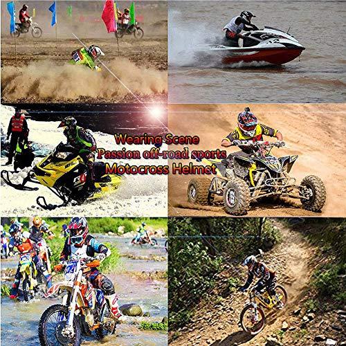 Uomini e Donne Caschi Integrali Moto off-Road DH Enduro Casco ATV MTB BMX Quad Casco da Motociclista Casco da Cross Moto Set con Occhiali Maschera Guanti LEENY Casco di Motocross in Stile UFO