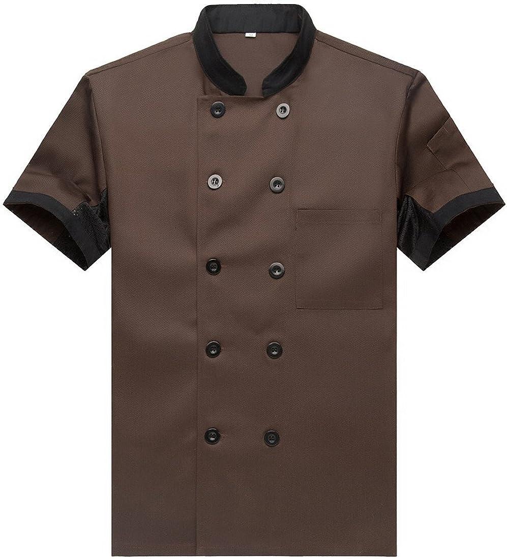 Discount is also underway Chef Jackets Waiter Coat Short Size Nippon regular agency Mesh Underarm Sleeves