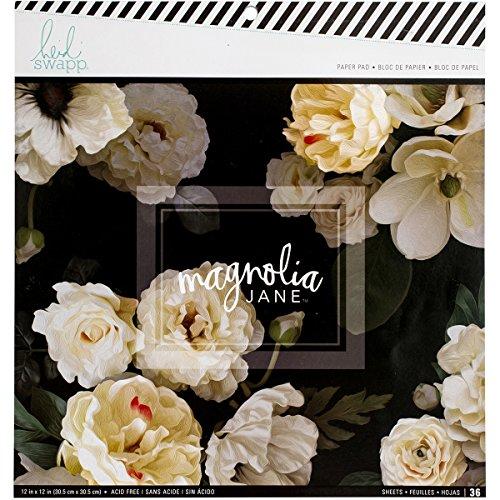 American Crafts Heidi Swapp 10268595Schablone zum einseitigen Papier Pad X 12Zoll 36/Pkg, Mehrfarbig, 31.49X 30,2x 1,01cm