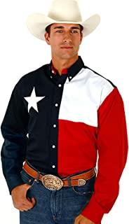 Roper Men's L/S Pieced Texas Flag Shirt