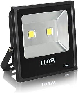 SGJFZD 100W 50W LED Floodlight, Waterproof Super Bright Outdoor Work Lights, 500W Halogen Bulbs Equivalent, IP66 Outdoor L...