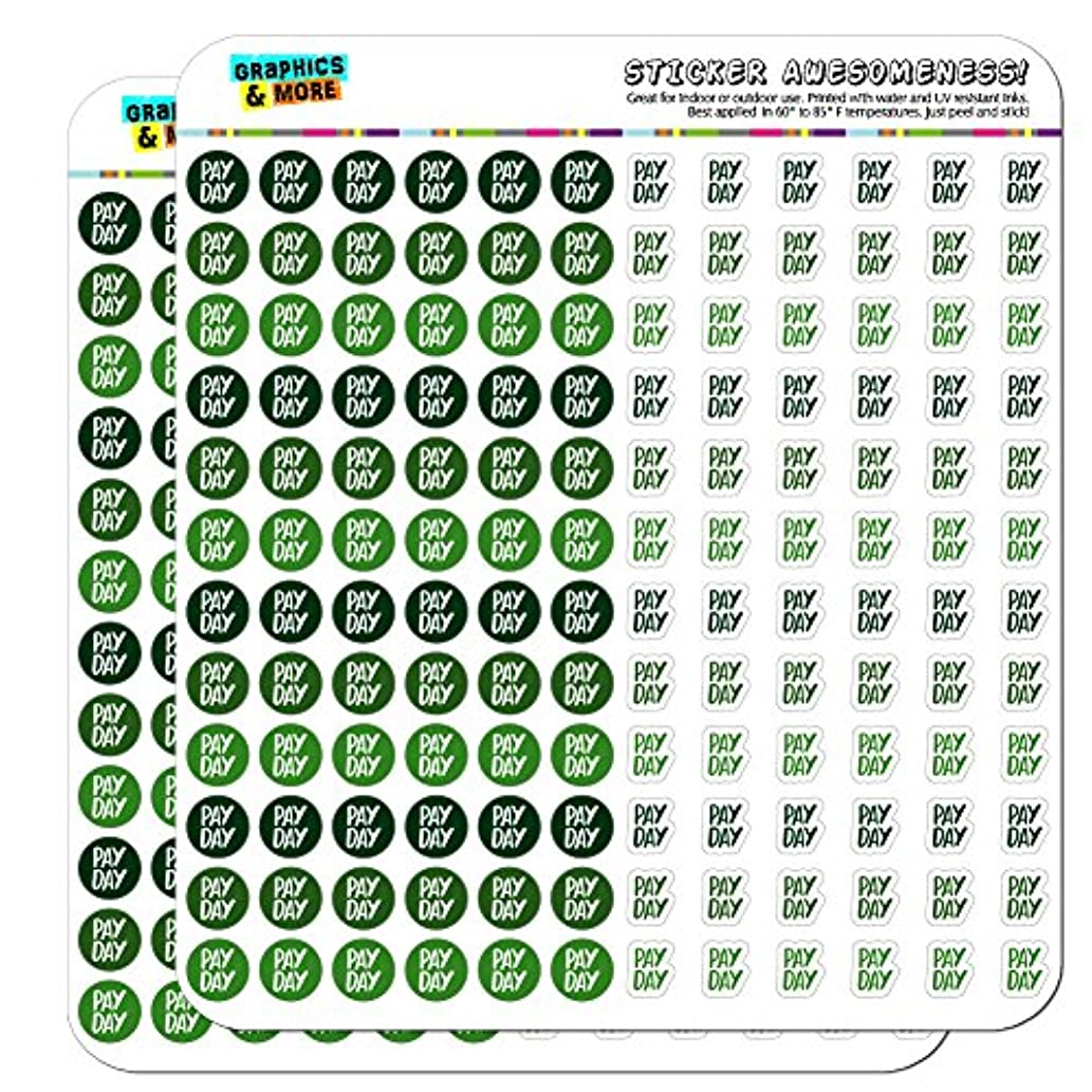 Pay Day Dots Planner Calendar Scrapbooking Crafting Stickers - Green - Opaque